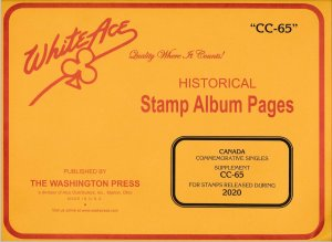 WHITE ACE 2020 Canada Commemorative Singles Stamp Album Supplement CC-65