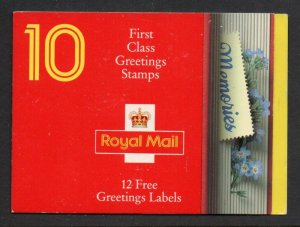 Great Britain Sc 1435a 1992 Greetings stamp booklet mint NH