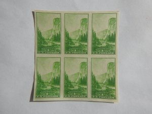 U. S. #756 MINT block of 6 Imperforate NG  NH