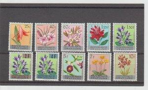 Rwanda  Scott#  13-22  MH  (1963 Flowers)