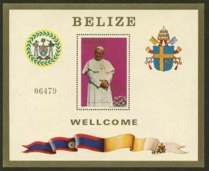 BELIZE Sc#667 1983 Pope John Paul II Visit Souvenir Sheet Mint NH