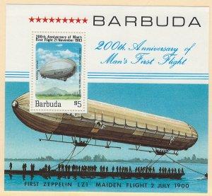 Barbuda Scott 581 Souvenir Sheet MNH! 200th Annivsary of Flight!