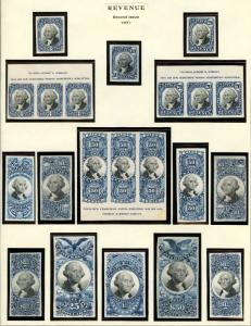 #R105P4 // R13P3 (21) PLATE PROOFS ON INDIA & CARDS 2ND ISS. USIR BT4692 CHB1613