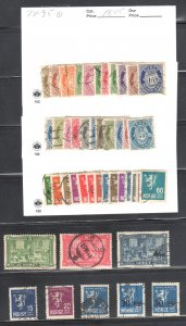 Norway #74 to 98, 112 to 130 ALL USED
