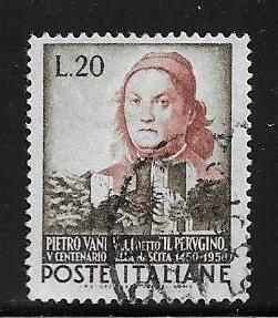 Italy 581 used 2017 SCV $3.75 ink on back  -   12259