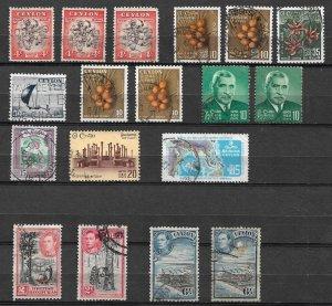 Ceylon lot collection used Sri Lanka