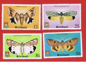 Kiribati #356-359  MNH OG  Moths  Free S/H