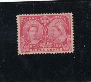 CANADA (KSG440) # 53 VF-MH 3cts QV DIAMOND JUBILEE /BRIGHT ROSE/1897 CAT VAL $40