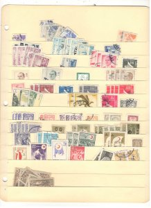 TURKEY COLLECTION ON STOCK SHEET, MINT/USED