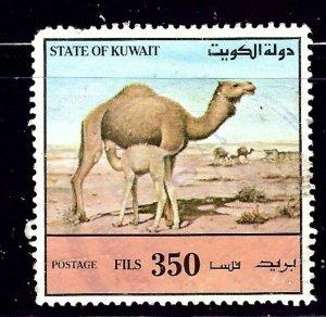 Kuwait 1172 Used 1991 Camels   nibbed corner perf    (ap1013)