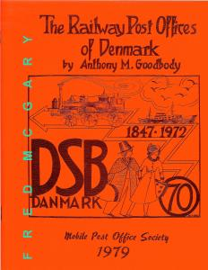 Goodbody's Classic: Railway Post Offices of Denmark - Original Not The Reprint!