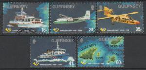 Guernsey SG 645 - 649 Used with First Day cancel