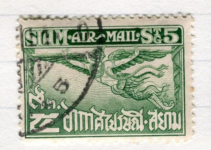 THAILAND;   1925 early Garuda Air issue fine used 5s. value Perf 12.5 issue