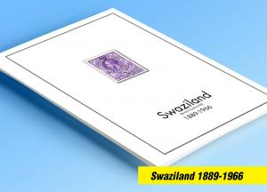 COLOR PRINTED SWAZILAND 1889-1966 STAMP ALBUM PAGES (14 illustrated pages)
