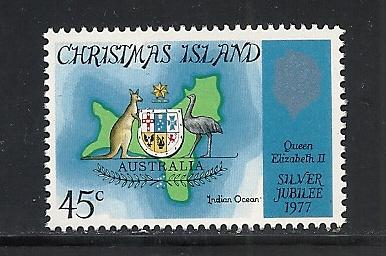 Christmas Island #85 comp mnh Scott cv $.50 Map