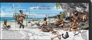 PITCAIRN ISLANDS, 644, MNH, S.S.CAVE DWELLERS OF HENDERSON ISL.