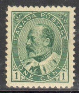 Canada #89 XF NH Perfection -- Select 1c Green KING EDWARD VII