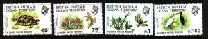 BIOT-Sc#39-42-unused NH set-Turtles-Birds-1971-