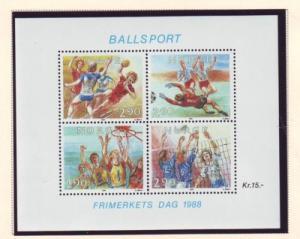 Norway Sc 934 1988 Ballsports stamp sheet mint NH