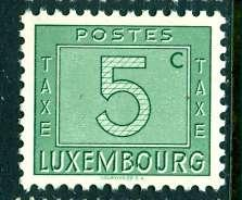 Luxembourg; 1946: Sc. # J23: **/MNH Single Stamp