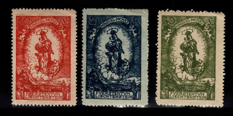 LIECHTENSTEIN Scott 47-49 MNH** stamp set Madonna and child
