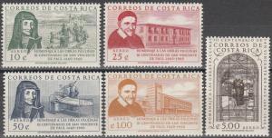 Costa Rica #C298-302  MNH CV $3.25