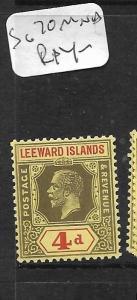 LEEWARD ISLANDS  (PP0105B) KGV  4D   SG 70   MNH