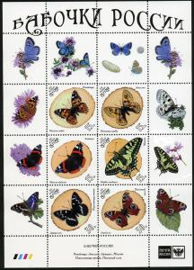 ALTAY RUSSIA LOCAL SHEET INSECTS BUTTERFLIES