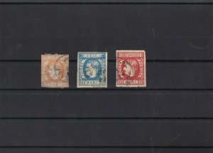 romania 1869 used  imperf  stamps cat £150  ref 11470