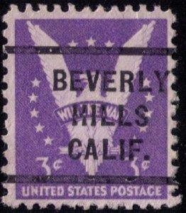 US Scott #905b Used Beverly Hills,Calif.Precancel Very Fine Cat.$500.00