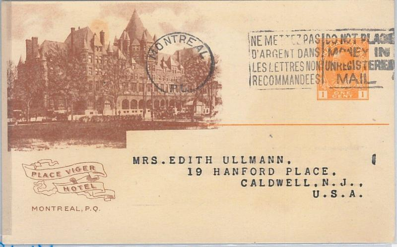54351 - CANADA - POSTAL HISTORY - Advertising STATIONERY CARD: Place Viger Hotel