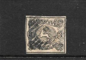 BRUNSWICK  1853-56  3sgr   HORSE   FU    SG 10