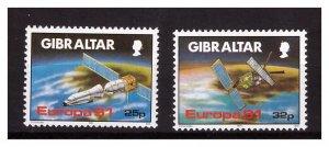 GIBRALTAR 1991 Europa 2 v MNH