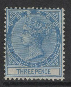 TOBAGO SG2 1879 3d BLUE MTD MINT