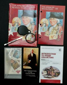 The American Revolution Beginners Stamp Collecting Kit Album #931