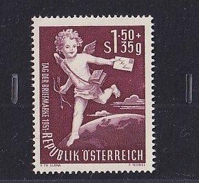 Austria   #B278   MNH  1952    stamp day   Cupid as Postman