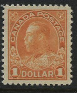 Canada KGV 1923 $1 orange Admiral unused mint NH