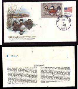 US-$7.50 1981 Duck Stamp #RW48 on Fleetwood FDC -