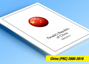COLOR PRINTED CHINA P.R.C. 2000-2010 STAMP ALBUM PAGES (170 illustrated pages)