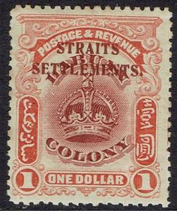 STRAITS SETTLEMENTS 1906 CROWN $1