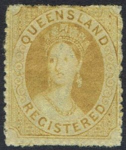 QUEENSLAND 1860 QV CHALON REGISTERED WMK SMALL STAR ROUGH PERF 14-16