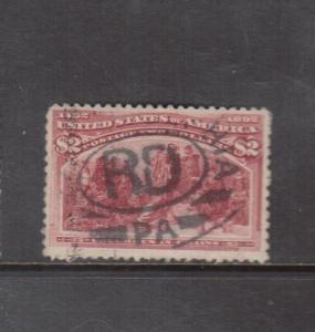 USA #242 Very Fine Used With Philadelphia Postmark