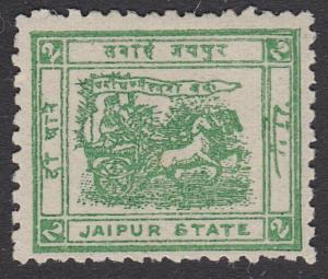 INDIA JAIPUR 1912-22 2a Green - SG29 mint..................................54789
