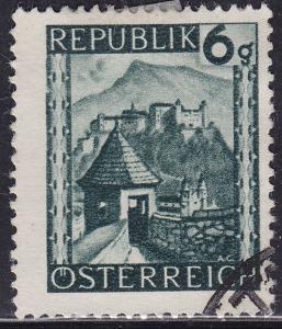 Austria 458 USED 1945 Hohensalzburg, Salzburg Province 6g
