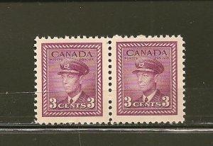 Canada 252 King George VI Pair MNH