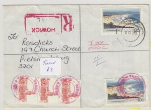South Africa 1983 Taxed Cover To Pietermaritzburg Postal History J6064