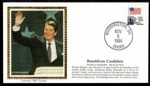 US Ronald Regan Re-Elected Colorano 1984 Cover