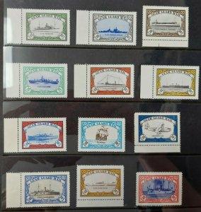 GUAM GUARD MAIL, Ship set of 12 10¢ Local Labels, NH, VF