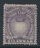 British East Africa Company  SG11  SC#21  Mint Hinged - perf 14 -  see details