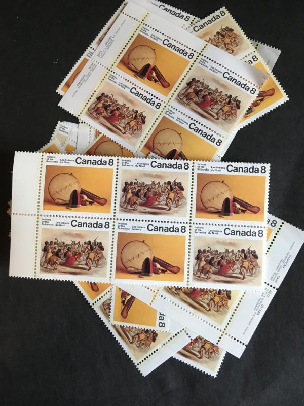 Canada #574-5 but most #575a Mint & VF-NH 1975 Subarctic Indians (100) Cat. C$35